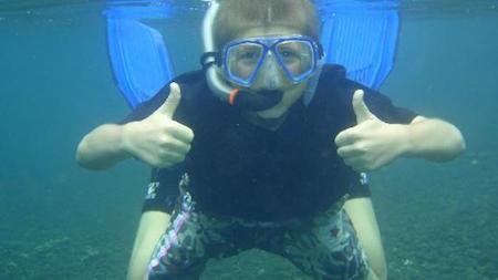 plongée à bali pour les enfants