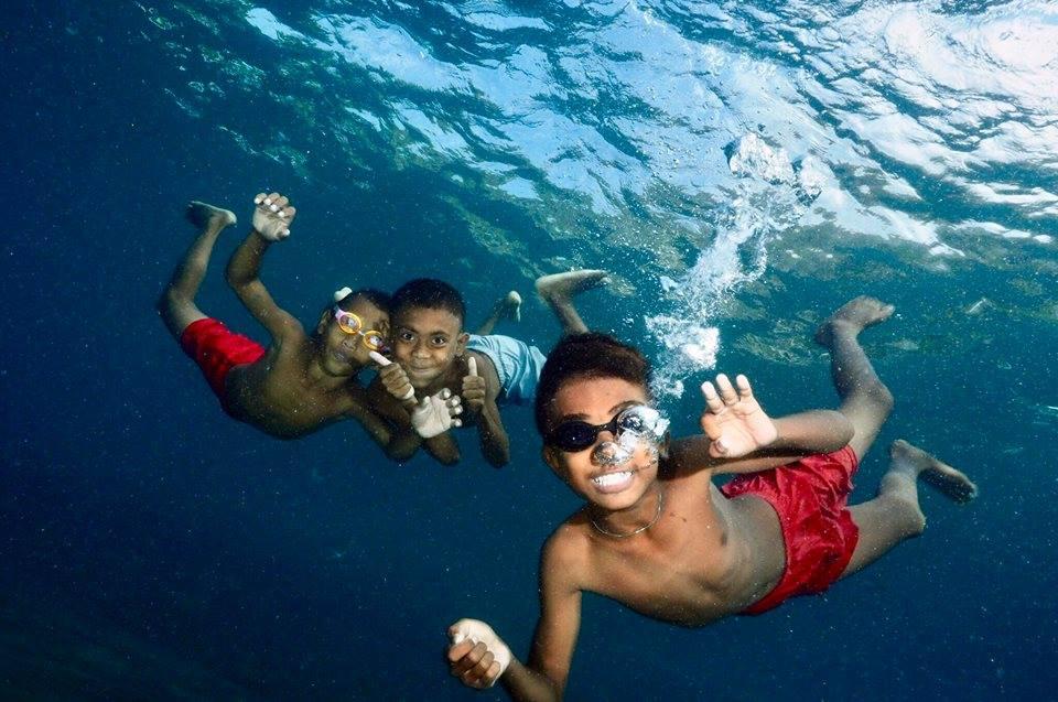 Une belle Plongée a Bali pour les enfants
